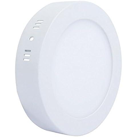 Liqoo® 18W Blanco cálido LED Lámpara Downlight incl Luz del proyector de techo. Transformador LED 3000K 2835 SMD, 1390Lumen reemplazado 100W instalación directa en forma redonda 38 x 220