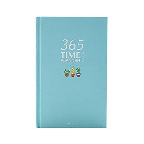 Lenfesh Tragbar Tage Planer mit Täglich / Wöchentlich / Monatlich / Jährlich Planen Journal Tagebuch Notebook (Blau) (Täglich Wöchentlich Monatlich Planer)