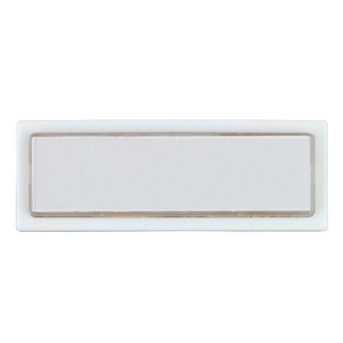 40791 Klingel-Taster, Aufputz mit Namenschild, beleuchtet, weiß