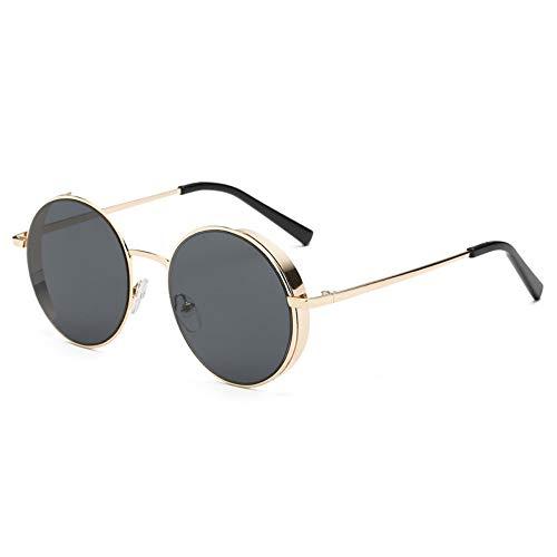 Sonnenbrille Sonnenbrille Frauen Männer Sommer Mode Neue Abgerundete Klassische Sonnenbrille Mit Metallrahmen Gold Grau