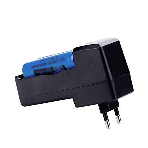Lixada AC110-240V 2.1W 2 Steckplätze Batterieladegerät Faltbare Stecker Design mit LED Pilot Lampe für 3,7 V 18650/17670/14500/10440/16340 Wiederaufladbare Lithium-Batterie Portable Indoor Outdoor