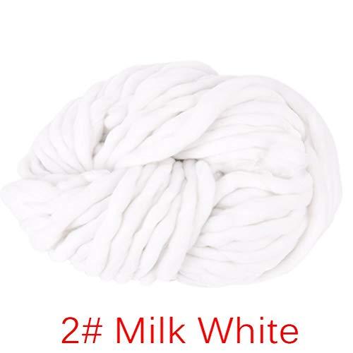 BraveWind Super Dick Chunky Strickgarn Roving Klobigen Garn Hand Stricken Decke Hüte für Arm Stricken Häkeln Basteln Milchweiß -