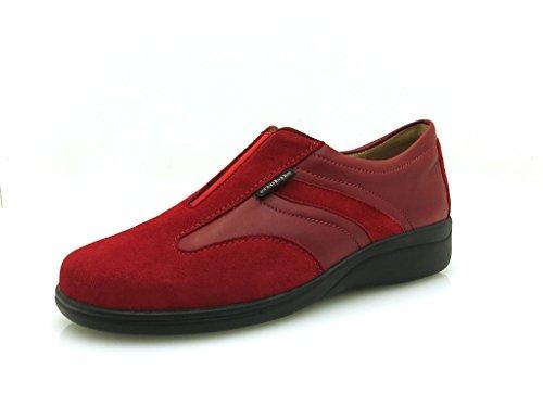 Allrounder De Mephisto Dynamic Saia Barta Freccia Chaussures Plates En Cuir Souple (constanza - Rot)