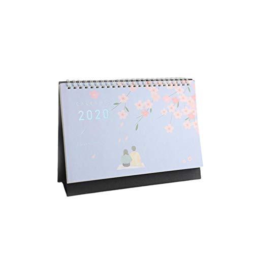 Ridecle Freistehender Tischkalender 2020 Monat zum Anzeigen des Desktop Flip Kalenders Der Tagesplaner läuft von Juli 2019 bis Dezember 2020. Bürotischkalender -