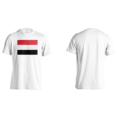 Nuova Bandiera Di Yemen Art Uomo T-shirt i266m White