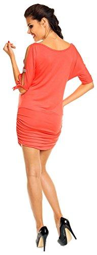 Zeta Ville - maternité - robe - tunique grossesse - à manches 3/4 - femme - 157c Corail