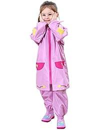 Kids Chubasquero Impermeable para niños Rain Poncho Rain Cute para Chicos Chicas