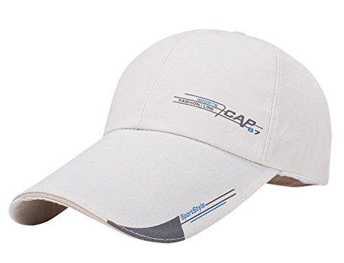 Aieoe Canvas Snapback Cap Klassische Kappe Verstellbar Baseball Cap Trucker Cap - Weiß