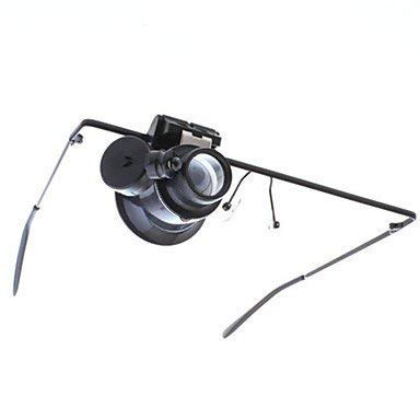 YUIOLIL Eyewear Style Single 20x Magnifier with Led Light -