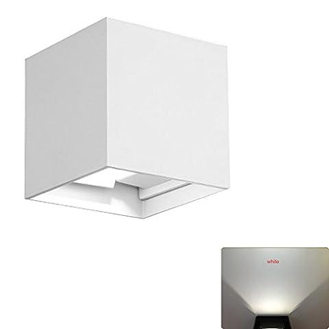 lzndeal Applique Murale LED 7W Lampe Moderne Décoration Intérieur Extérieur Lumière en Aluminium Pour Chambre Escalier Salon Bureau Porche Boutique