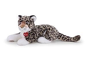 Trudi- Leopardo Gris Leopoldo Peluche, Color Blanco, M (27602)