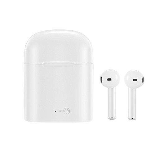 AOLVO 2Pcs TWS Best Bluetooth-Kopfhörer, tragbare Wireless Bluetooth In-Ear mit Schnelles Laden/Geräuschunterdrückung Sport Kopfhörer mit eingebautem Mikrofon kompatibel für die meisten IOS Android Smartphone weiß