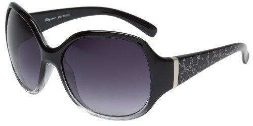 Schöne Marken Sonnenbrille für Damen von Burgmeister mit 100% UV Schutz | Sonnenbrille mit stabiler Polycarbonatfassung, hochwertigem Brillenetui, Brillenbeutel und 2 Jahren Garantie | SBM105-231