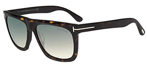 Tom Ford Unisex-Erwachsene FT0513 52W 57 Sonnenbrille, Braun (Avana Scura/Blu Grad),
