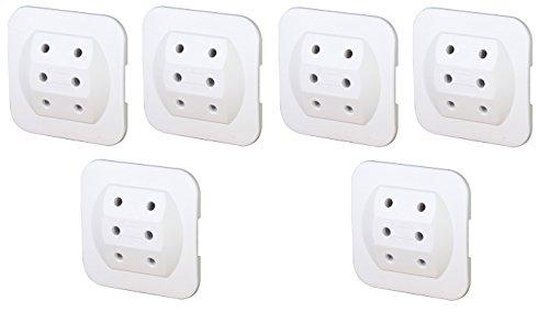 Preisvergleich Produktbild 6er Sparpack Kopp 174902005 Adapter 3-fach extra flach, weiß (6)