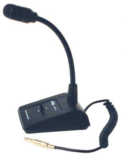 Profi-Qualität, uni-direktionales dynamisches Mikrofon mit Basisstation Lautsprecheranlage, Metall-Sohle und rutschfeste Füße, flexible goosneck, abschließbar, Sprechtaste, momentary talk-Funktion und einem 6,35-mm-Klinkenstecker Basisstation