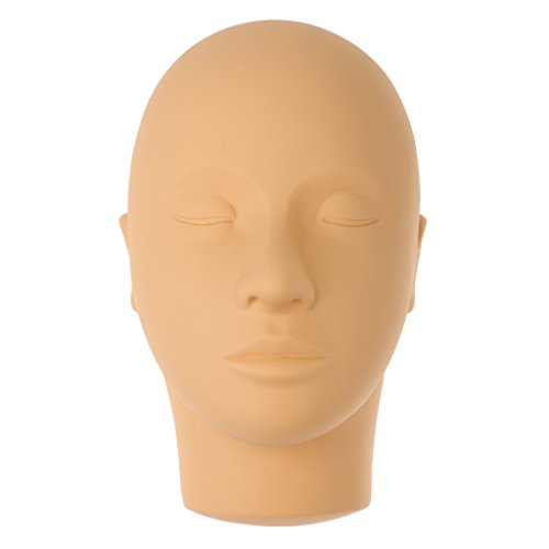 Generic Close Eyes Mannequin Head for Face Massage Makeup Eyelash Extension Practice