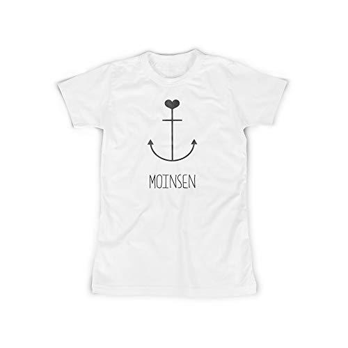 licaso Frauen T-Shirt mit Moinsen Anker Herz Heart Aufdruck in White Gr. XXXXL Hamburg HH Nordsee Design Top Shirt Frauen Basic 100{c6e9e5e6d5ef55f6371279238c4e1d6f6415d01cff67622f58c7245a9e4169c0} Baumwolle Kurzarm