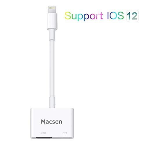 Boomly HDMI Adapter AV-Stecker Digital Kompatibel mit iPhone XR XS Max X 8 7 6s 6 5 Plus iPad Air Mini 2 4 Kabel HDMI Konverter Kabel HDMI Kabel für Projektor TV Halterung 10.3~12 und mehr