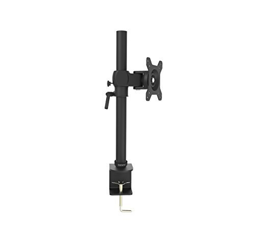 Duronic DM351X1 Single LCD LED Desk Mount ( ( Die-Cast Aluminium ) ) Monitor Stand Bracket with Tilt and Swivel (Tilt ±15°|Swivel 180°|Rotate 360°) + 10 Year Warranty