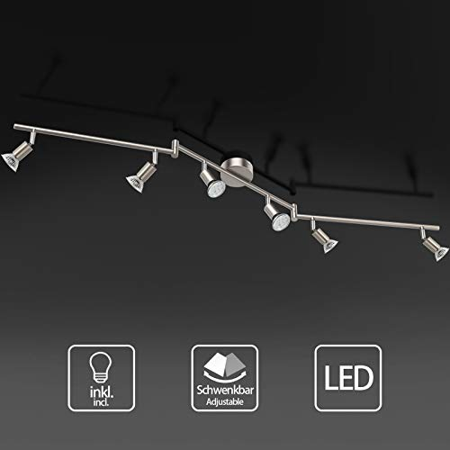Uchrolls Foco LED para techo I 6 vías lamparas de techo led...