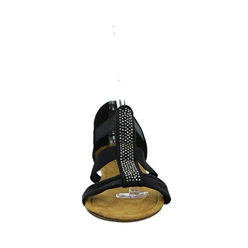 Alyssa K822-23 Damen Sandalette bis 30mm Absatz Schwarz (Schwarz)