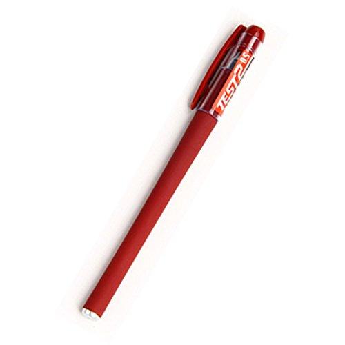 SHUXIEGONGJU 12 Sticks T10 Schwarz Tintenpatronen XTXWEN® Gel Pen 0,5 mm Schreibstift Test Office Carbon Pen Studenten Schreibwaren Blau/Schwarz/Rot, Red