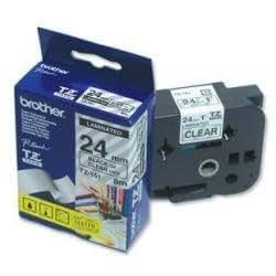 Brother TZE151 Ruban 24 mm Noir/Transparent