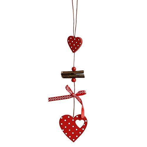 Weihnachten Dekor Türhänger von Malloom, Weihnachten Holz Chip Baum Ornamente Weihnachten Hängen Anhänger Dekoration Geschenke Rot Garland Chip