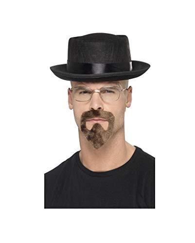 Hut Kostüm Heisenberg - Horror-Shop 3-TLG. Breaking Bad Kostüm-Zubehör für Heisenberg