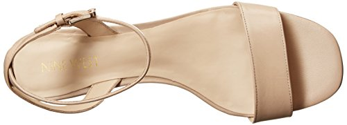 Nine West Tullip Damen Leder Sandale LtNatur