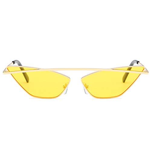 ReooLyDamenmode Cat Eye Shade Sonnenbrille Integrierte Streifen Vintage Brille -