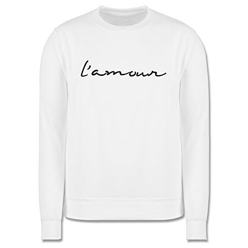 Statement Shirts - l'amour Liebe - Herren Premium Pullover Weiß