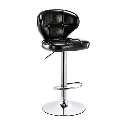 Lipeda sgabello da bar sedia girevole da bar per colazione da 360 gradi con alzata a gas regolabile in altezza (colore : nero)