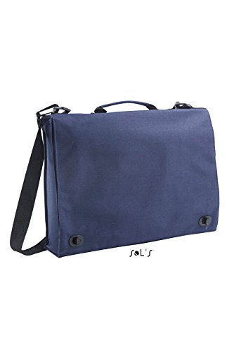 Sol da conferenza 71300 poliestere compendio Messenger casual giustizia scuola borsa 5 COLORS: French Navy, Black, Graphite, Red, Dune.