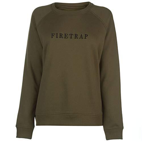 Firetrap Damen Luxe Rundhals Sweatshirt Pullover Khaki XS