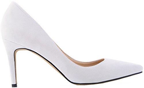 CFP ,  Damen Durchgängies Plateau Sandalen mit Keilabsatz Weiß