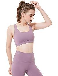 TX ZHAORUI Cruz Belleza Trasera Antichoques Deportivo Sujetador Sin Anillo De Acero Running Yoga Fitness Transpirable Ropa Interior Femenina,Pink,S
