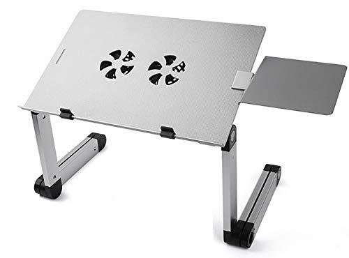 L&Z 360° Verstellbarer Laptop Notebook Ständer ergonomischer Tisch Tablet Halterung mit 2 Lüfter...