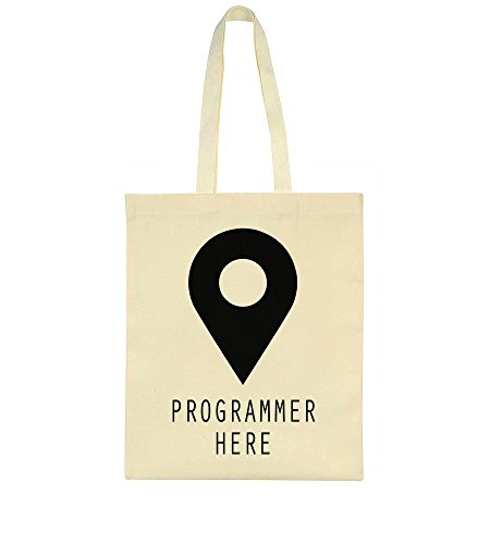 idcommerce Programmer Here Location Pin Tote Bag