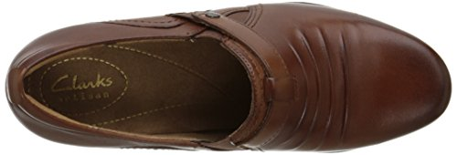 Clarks Rosalyn Nicole Slip-on Loafer Tan Leather