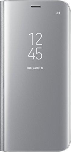 Samsung EF-ZG950CSEG Clear View Hülle (geeignet für Samsung S8), Silber