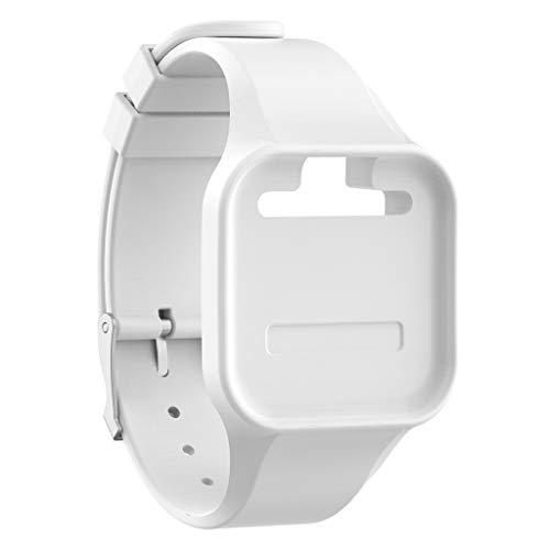 Für Golfbuddy Voice + / Voice 2 / Voice 2 GPS Armband,MuSheng Armband Watch Armband Bracelet Strap Wristband für Golfbuddy Voice + / Voice 2 / Voice 2 GPS (Weiß)