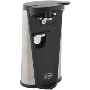 SP20110N Electric Can Opener Black – Never struggle opening aluminium cans again thanks to this Automatic Electric Can Opener from iconic housewares manufacturer Swan