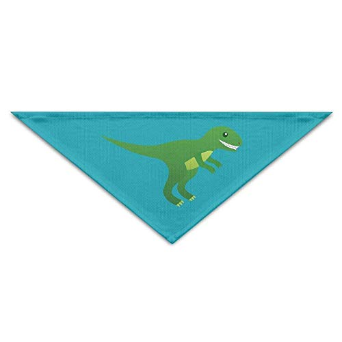 Wfispiy Green Cute T Rex Dinosaur Dog Bandanas Scarves Triangle Bibs Scarfs Novelty Basic Neckerchief Cat Collars
