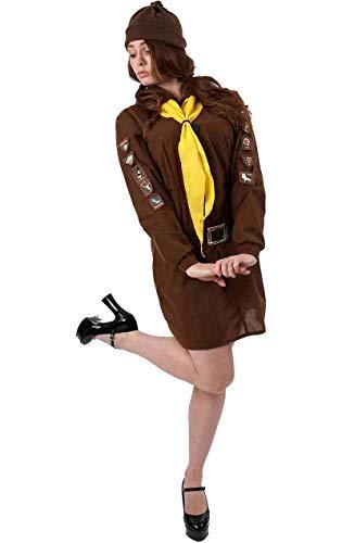 Abenteuer Mädchen Pfadfinder Kostüm für Fasching Verkleidung Damen ()