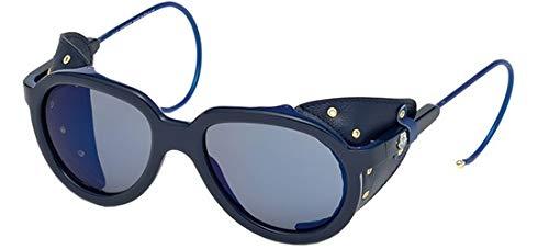 Moncler Unisex-Erwachsene Sonnenbrille ML0003 92X 55, Blau (Blu), 55