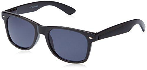X-CRUZE® 8-001 Nerd Sonnenbrille Wayfarer Style Stil Retro Vintage Retro Unisex Herren Damen Männer Frauen Brille Nerdbrille - schwarz