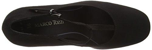 Marco Tozzi 24417, Scarpe con Chiusura a T Donna Nero (BLACK 001)