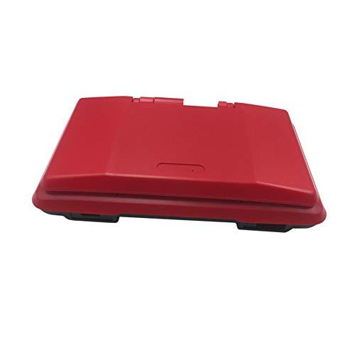 Haodasi Ersatz Front Zurück Case Hulle Cover Gehäuse mit Taste Schrauben Bildschirm Aufkleber Eingabestift für Nintendo DS Spiel Konsole (Rot)